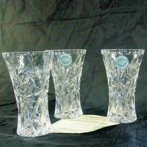 """Lenox crystal bud vase toothpick holder EUC 4"""""""